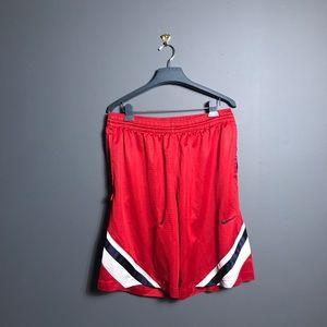 Nike basketball shorts men's large red